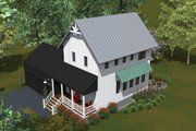 Farmhouse Style House Plan - 2 Beds 2 Baths 1200 Sq/Ft Plan #933-8 Exterior - Front Elevation