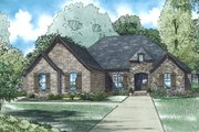 European Style House Plan - 3 Beds 2.5 Baths 2360 Sq/Ft Plan #17-2549 Exterior - Front Elevation