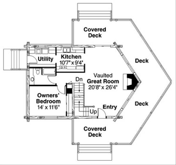 Log Floor Plan - Main Floor Plan #124-503