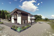 Modern Style House Plan - 5 Beds 5 Baths 3956 Sq/Ft Plan #549-5 Exterior - Front Elevation