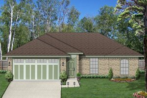 Home Plan - Traditional Exterior - Front Elevation Plan #84-537
