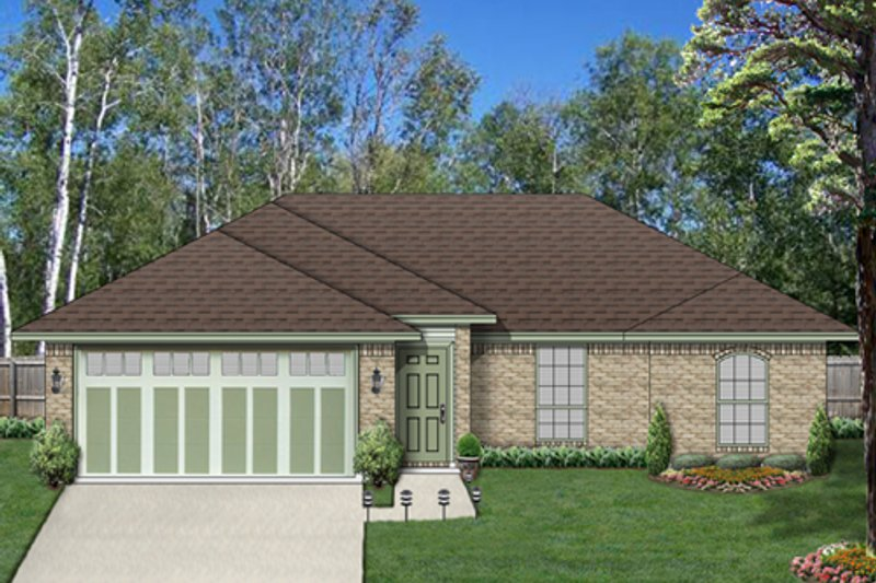 Traditional Exterior - Front Elevation Plan #84-537 - Houseplans.com