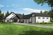 Craftsman Style House Plan - 2 Beds 2.5 Baths 2652 Sq/Ft Plan #124-1182 Exterior - Front Elevation
