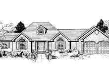 Dream House Plan - Ranch Exterior - Other Elevation Plan #3-153