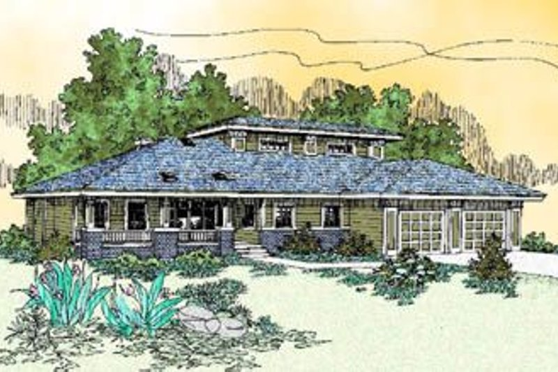 Traditional Exterior - Front Elevation Plan #60-229 - Houseplans.com