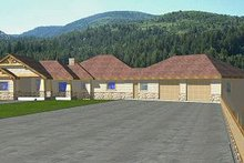 Dream House Plan - Bungalow Exterior - Other Elevation Plan #117-515