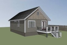 Home Plan - Cottage Exterior - Rear Elevation Plan #79-102