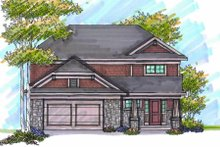 Home Plan - Bungalow Exterior - Front Elevation Plan #70-945
