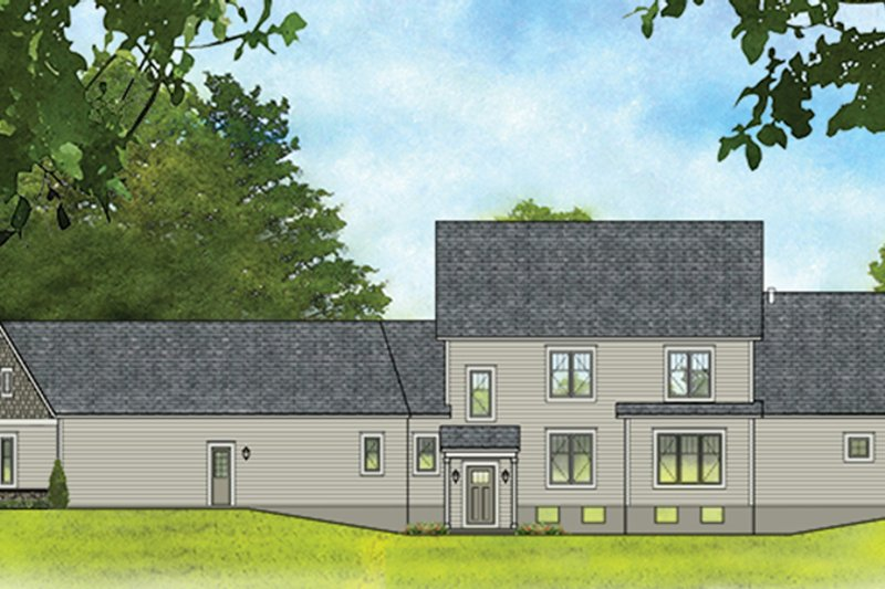 Traditional Exterior - Rear Elevation Plan #1010-188 - Houseplans.com