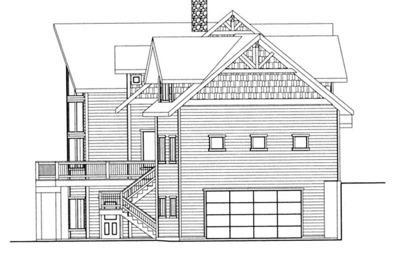 Traditional Exterior - Other Elevation Plan #117-830 - Houseplans.com