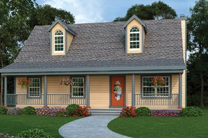 House Plan Design - Country Exterior - Front Elevation Plan #314-207