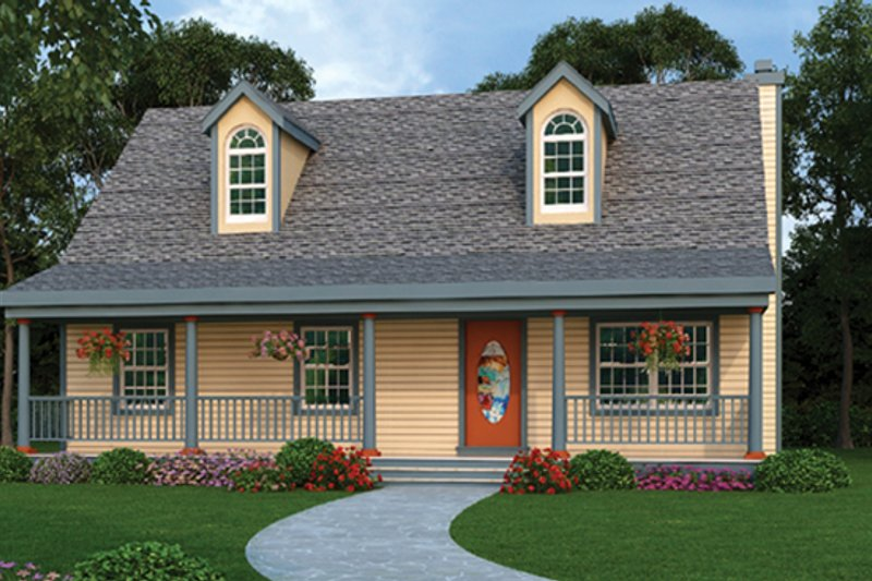Country Exterior - Front Elevation Plan #314-207