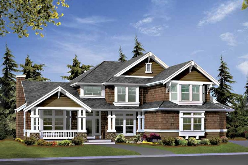 Craftsman Exterior - Front Elevation Plan #132-406