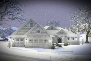 Ranch Exterior - Front Elevation Plan #70-1461