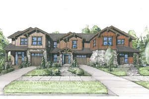 Craftsman Exterior - Front Elevation Plan #509-20