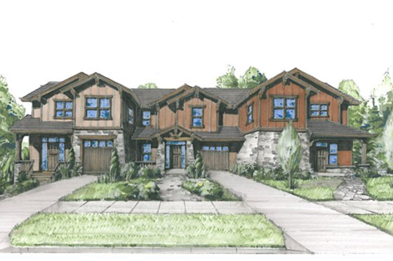 Craftsman Exterior - Front Elevation Plan #509-20