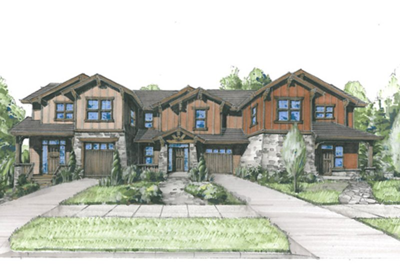 Craftsman Style House Plan - 8 Beds 6.5 Baths 4658 Sq/Ft Plan #509-20 Exterior - Front Elevation