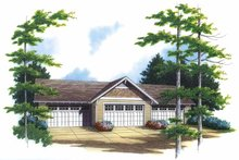 Home Plan - Country Exterior - Front Elevation Plan #48-828