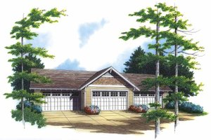 Architectural House Design - Country Exterior - Front Elevation Plan #48-828