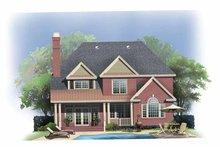 Dream House Plan - Colonial Exterior - Rear Elevation Plan #929-852