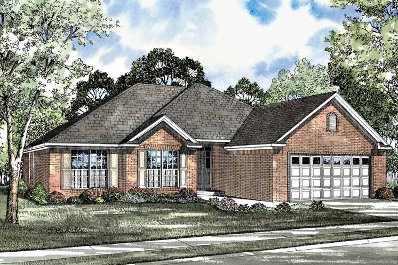 Colonial Exterior - Front Elevation Plan #17-3081