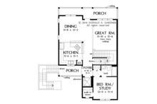 Country Floor Plan - Main Floor Plan Plan #929-996