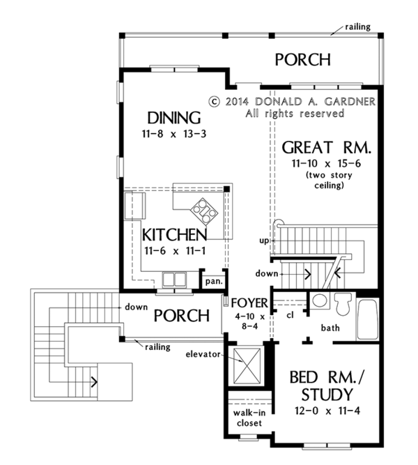 Dream House Plan - Country Floor Plan - Main Floor Plan #929-996