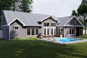 Craftsman Style House Plan - 2 Beds 2.5 Baths 2172 Sq/Ft Plan #455-212 Exterior - Rear Elevation