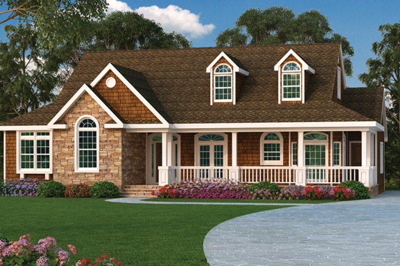 Ranch Exterior - Front Elevation Plan #314-292