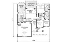 Craftsman Floor Plan - Main Floor Plan Plan #51-516