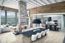 Contemporary Interior - Dining Room Plan #924-1