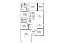 Mediterranean Floor Plan - Main Floor Plan Plan #1058-70