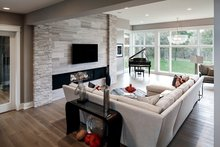 House Design - Contemporary Interior - Family Room Plan #928-287