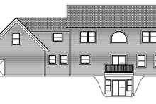 Colonial Exterior - Rear Elevation Plan #1061-4