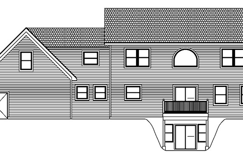 Colonial Exterior - Rear Elevation Plan #1061-4 - Houseplans.com