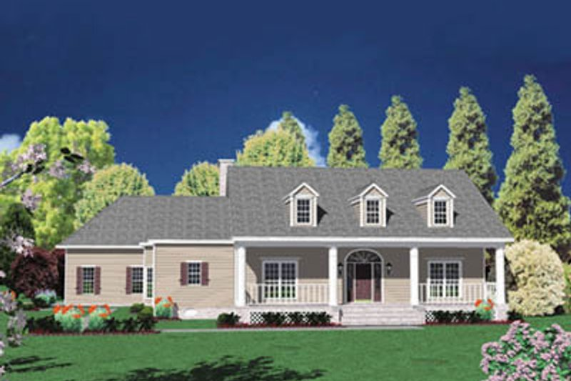 Traditional Exterior - Front Elevation Plan #36-244 - Houseplans.com
