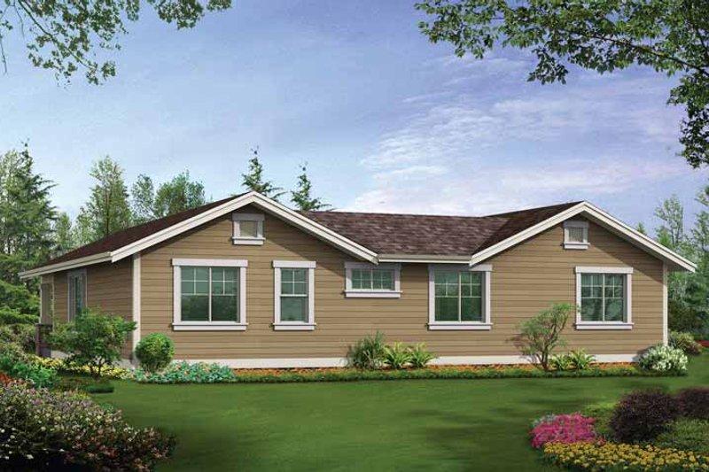 Craftsman Exterior - Rear Elevation Plan #132-531 - Houseplans.com