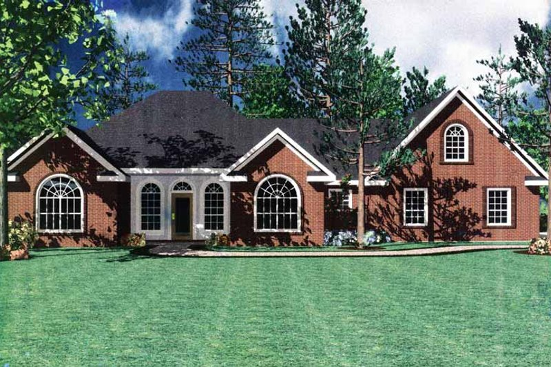 Home Plan - Contemporary Exterior - Front Elevation Plan #21-402