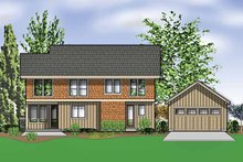 Craftsman Exterior - Rear Elevation Plan #48-873