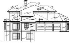 House Plan Design - Mediterranean Exterior - Other Elevation Plan #453-321