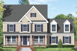 Architectural House Design - Country Exterior - Front Elevation Plan #1053-23