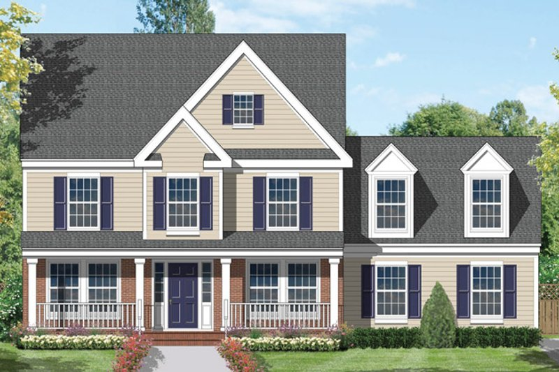 Country Exterior - Front Elevation Plan #1053-23