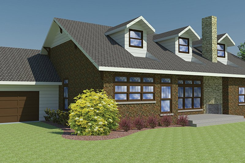 Craftsman Exterior - Rear Elevation Plan #1063-1 - Houseplans.com