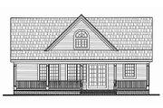 Country Style House Plan - 4 Beds 3 Baths 1673 Sq/Ft Plan #456-11 Exterior - Rear Elevation