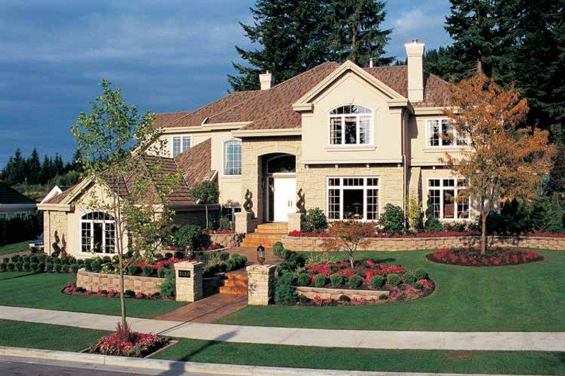 House Blueprint - Mediterranean Exterior - Front Elevation Plan #47-895