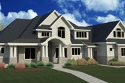 Craftsman Style House Plan - 6 Beds 5.5 Baths 6680 Sq/Ft Plan #920-24 Exterior - Front Elevation