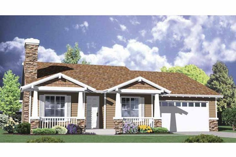 Traditional Exterior - Front Elevation Plan #509-201 - Houseplans.com