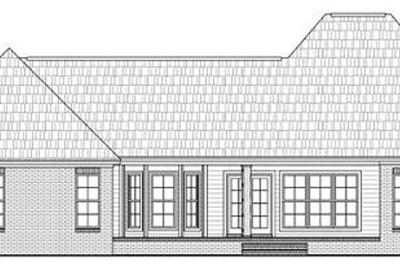 European Exterior - Rear Elevation Plan #21-280 - Houseplans.com