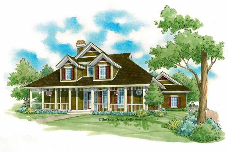 Victorian Exterior - Front Elevation Plan #930-222