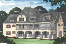 Dream House Plan - Country Exterior - Rear Elevation Plan #453-469